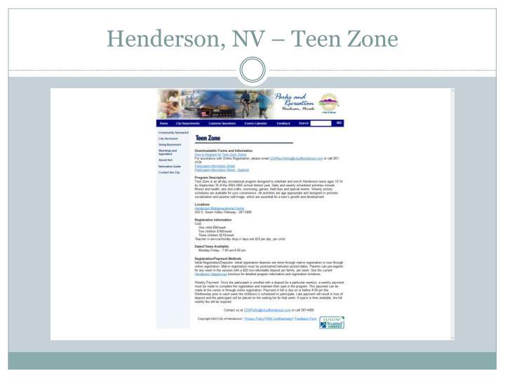 Henderson, NV – Teen Zone