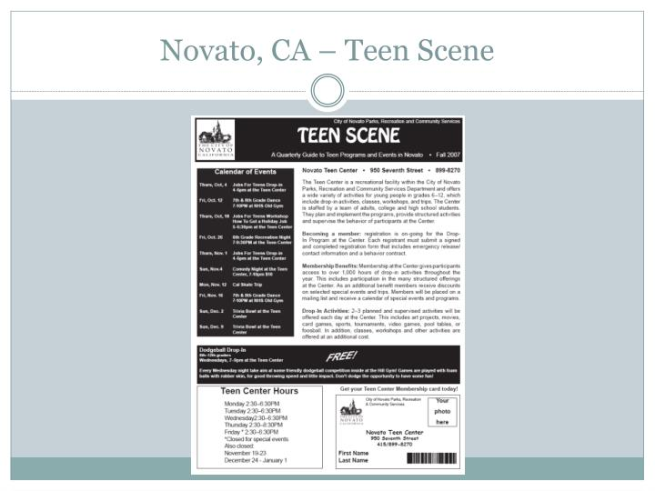 Novato, CA – Teen Scene