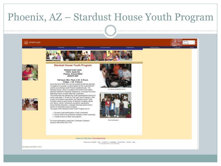 Phoenix, AZ – Stardust House Youth Program