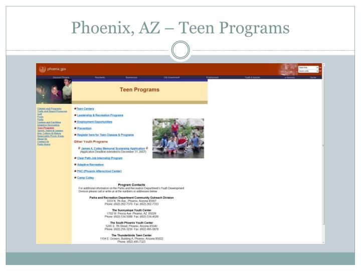 Phoenix, AZ – Teen Programs