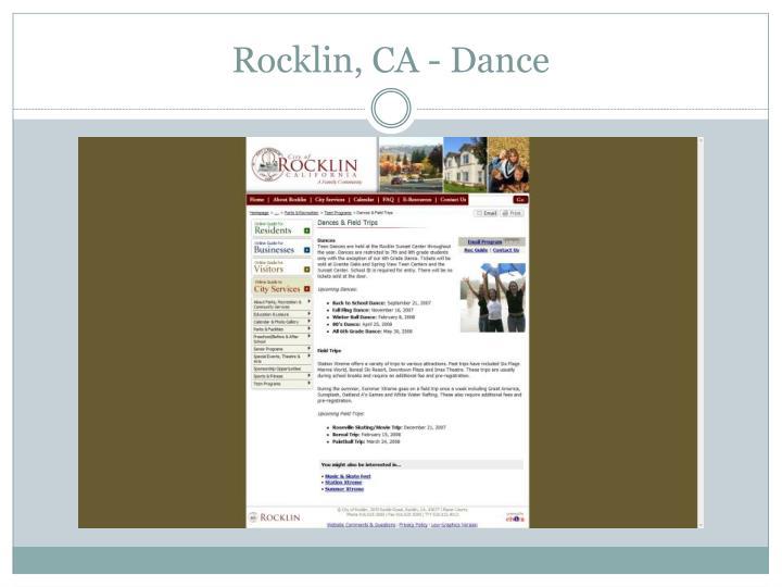 Rocklin, CA - Dance