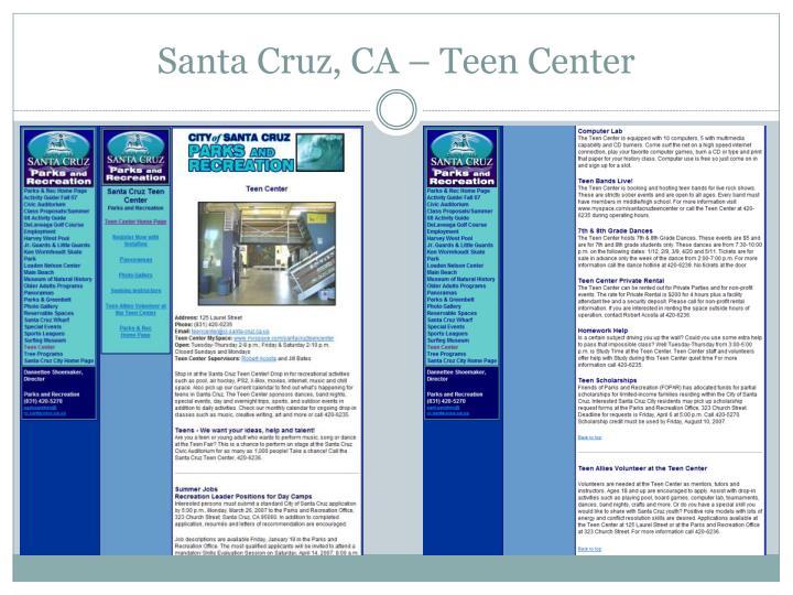 Santa Cruz, CA – Teen Center