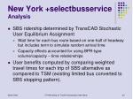 new york selectbusservice analysis