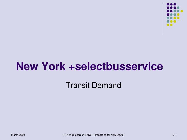 New York +selectbusservice
