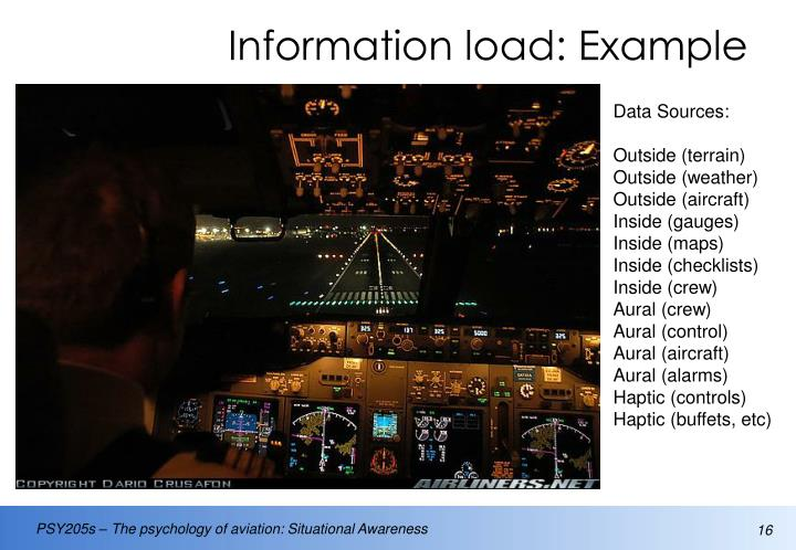 Information load: Example