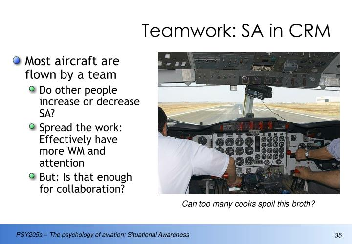 Teamwork: SA in CRM