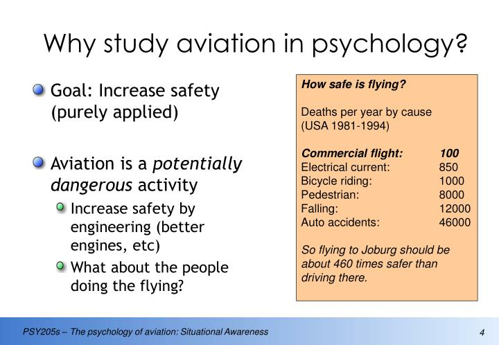 Why study aviation in psychology?