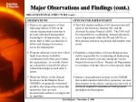 major observations and findings cont2