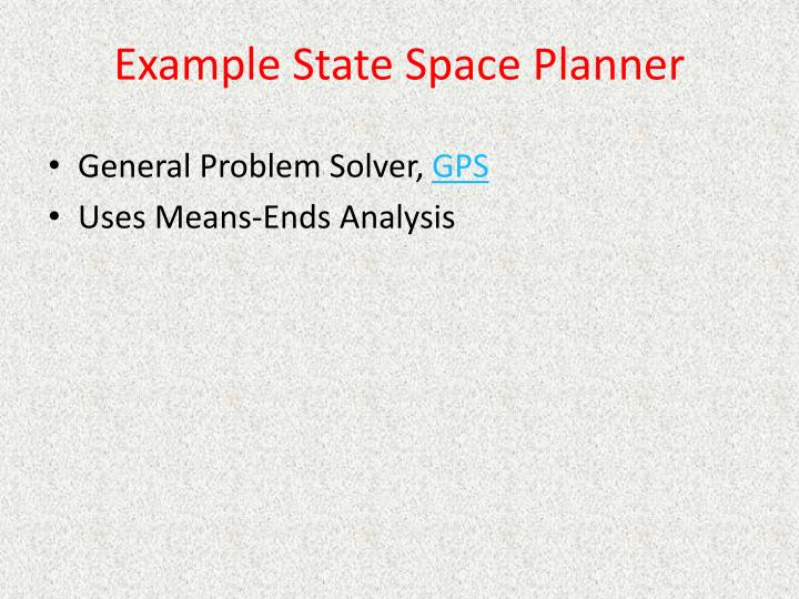 Example State Space Planner