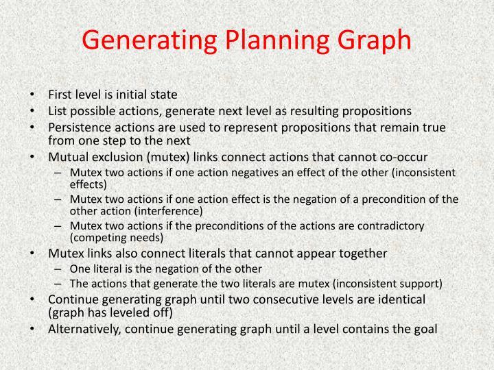 Generating Planning Graph