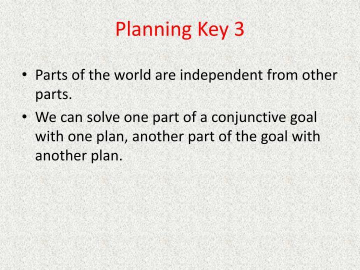 Planning Key 3