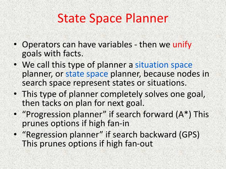 State Space Planner