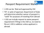 passport requirement waiver