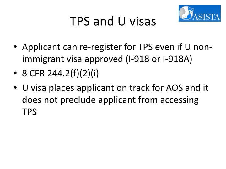 TPS and U visas