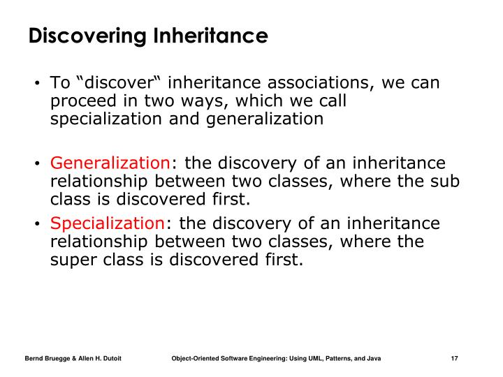 Discovering Inheritance