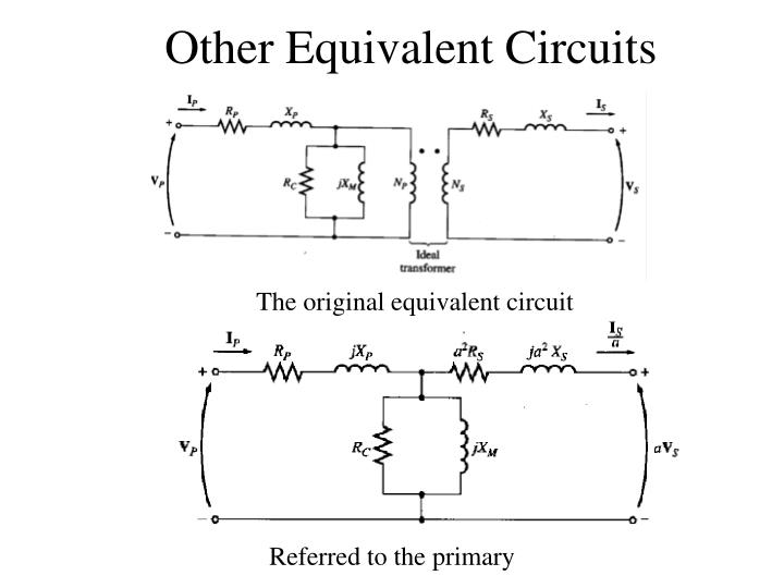 Other Equivalent Circuits