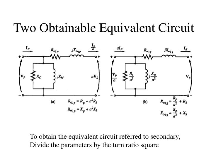 Two Obtainable Equivalent Circuit
