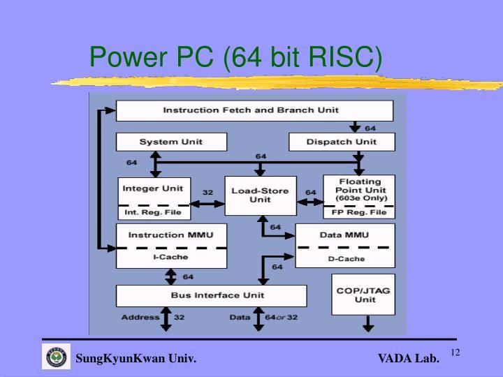 Power PC (64 bit RISC)
