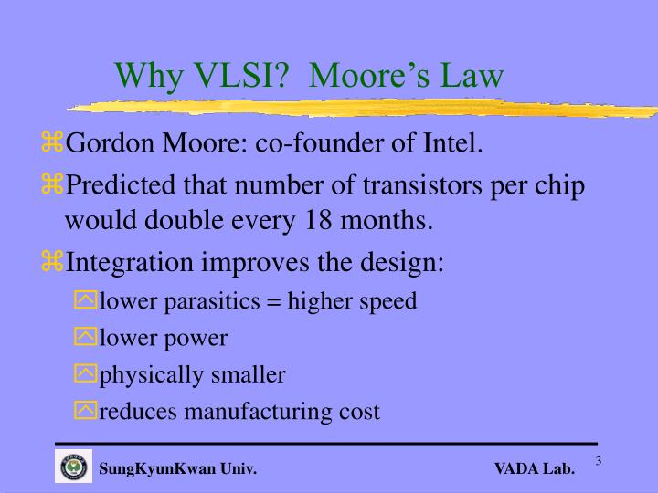 Why VLSI?  Moore's Law