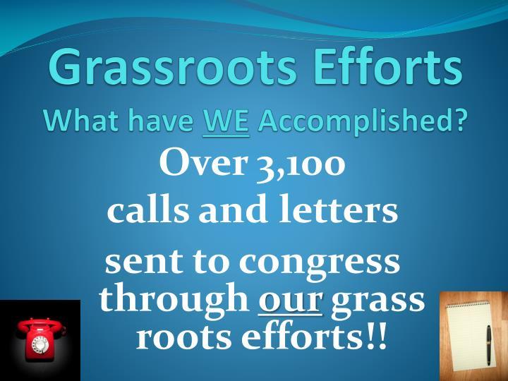 Grassroots Efforts