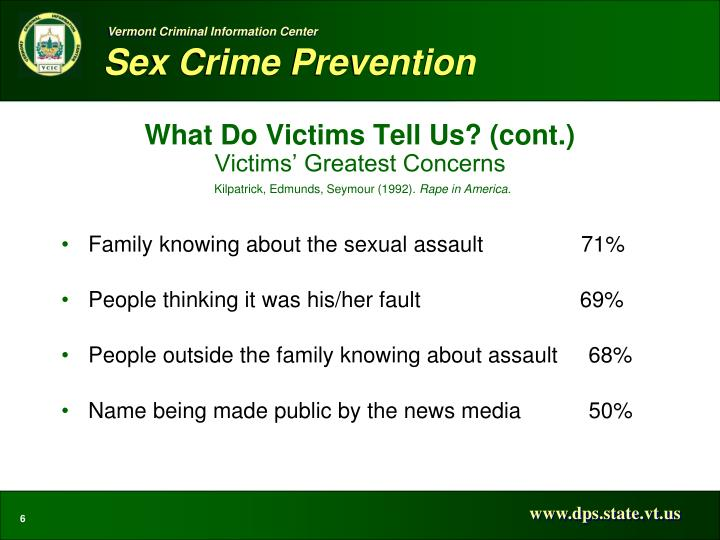 What Do Victims Tell Us? (cont.)
