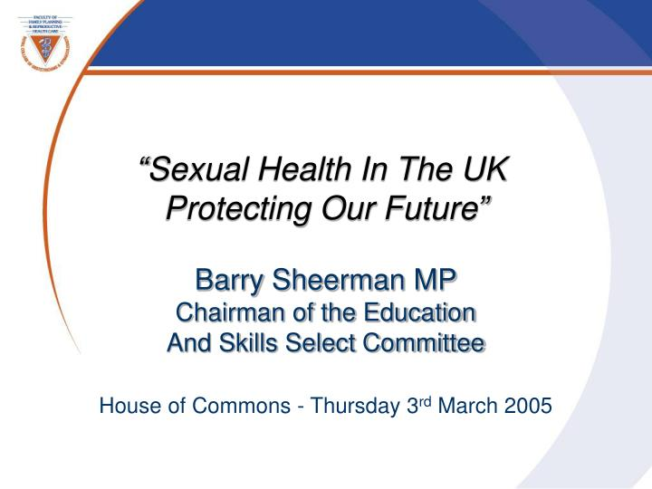 """Sexual Health In The UK"