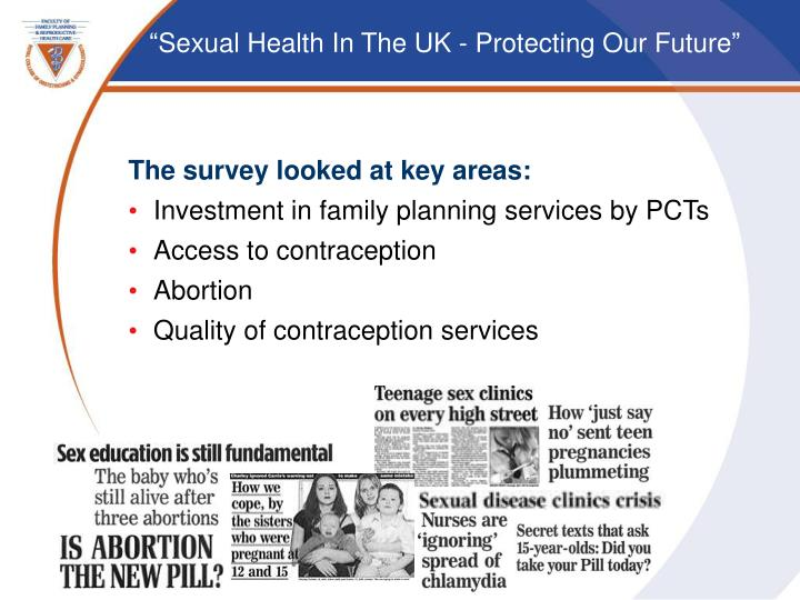 The survey looked at key areas: