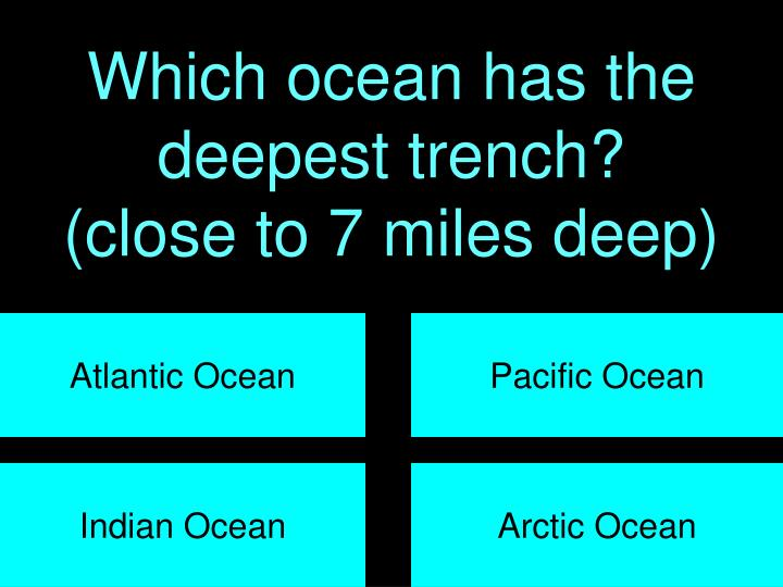 Which ocean has the deepest trench?
