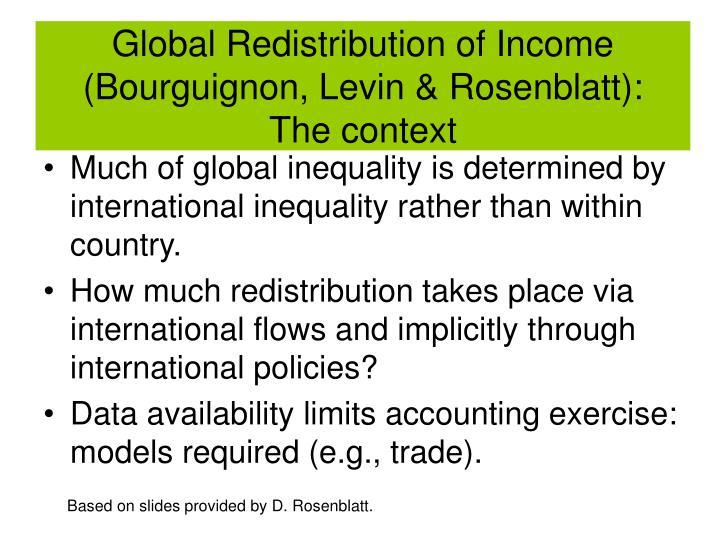Global Redistribution of Income