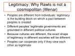legitimacy why rawls is not a cosmopolitan wenar