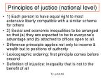 principles of justice national level