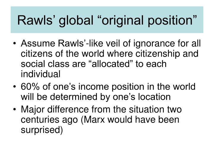 "Rawls' global ""original position"""