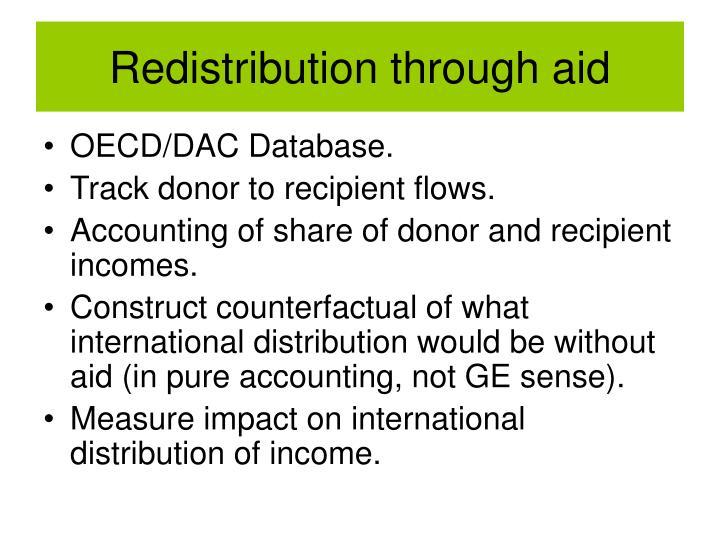 Redistribution through aid