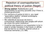 rejection of cosmopolitanism political theory of justice nagel