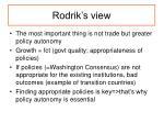rodrik s view