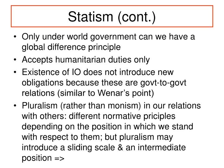 Statism (cont.)
