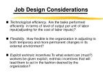 job design considerations1