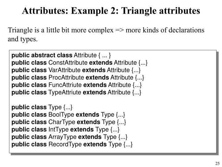 Attributes: Example 2: Triangle attributes
