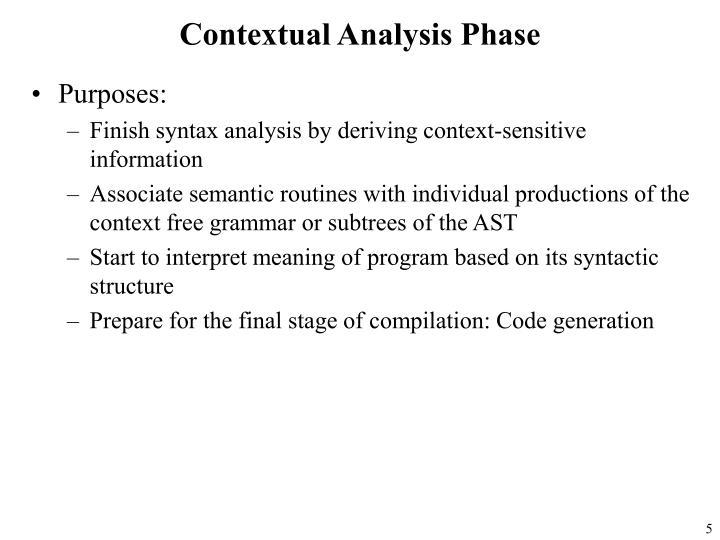 Contextual Analysis Phase