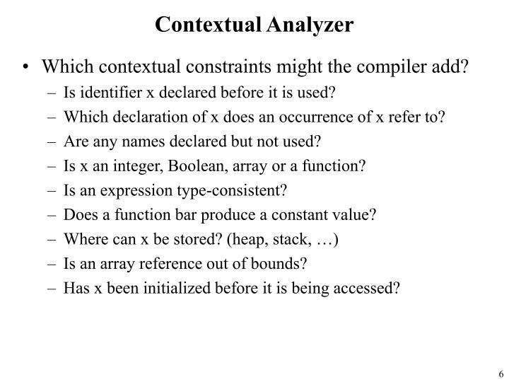 Contextual Analyzer