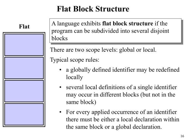 Flat Block Structure