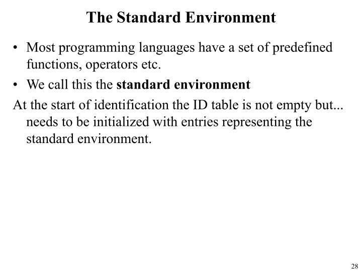 The Standard Environment