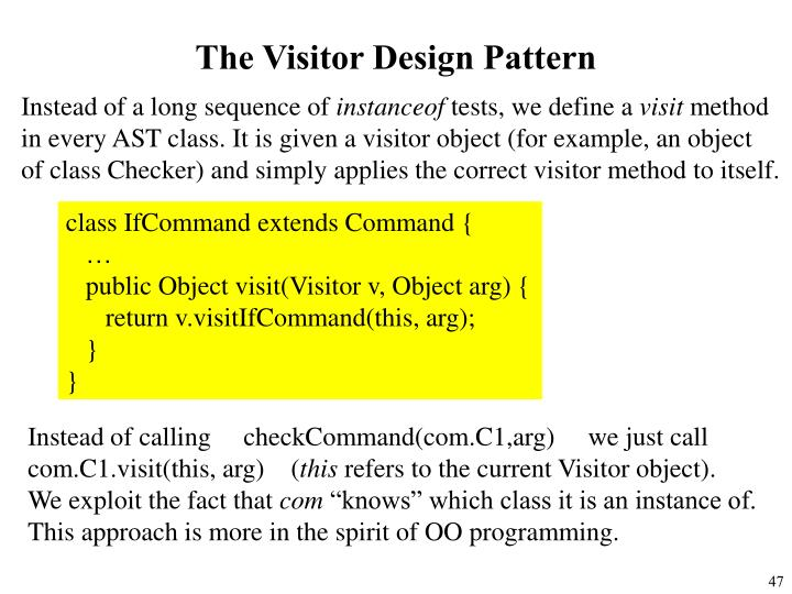 The Visitor Design Pattern