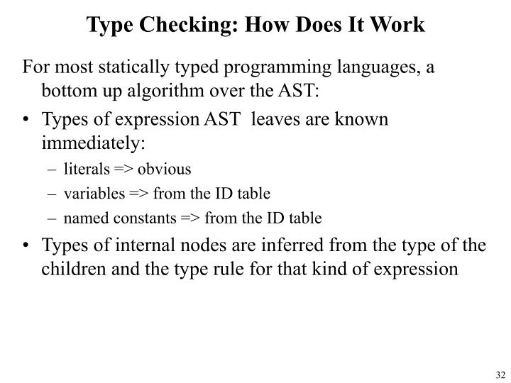 Type Checking: How Does It Work