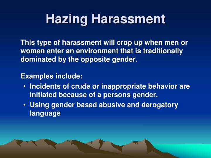 Hazing Harassment