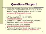 questions support