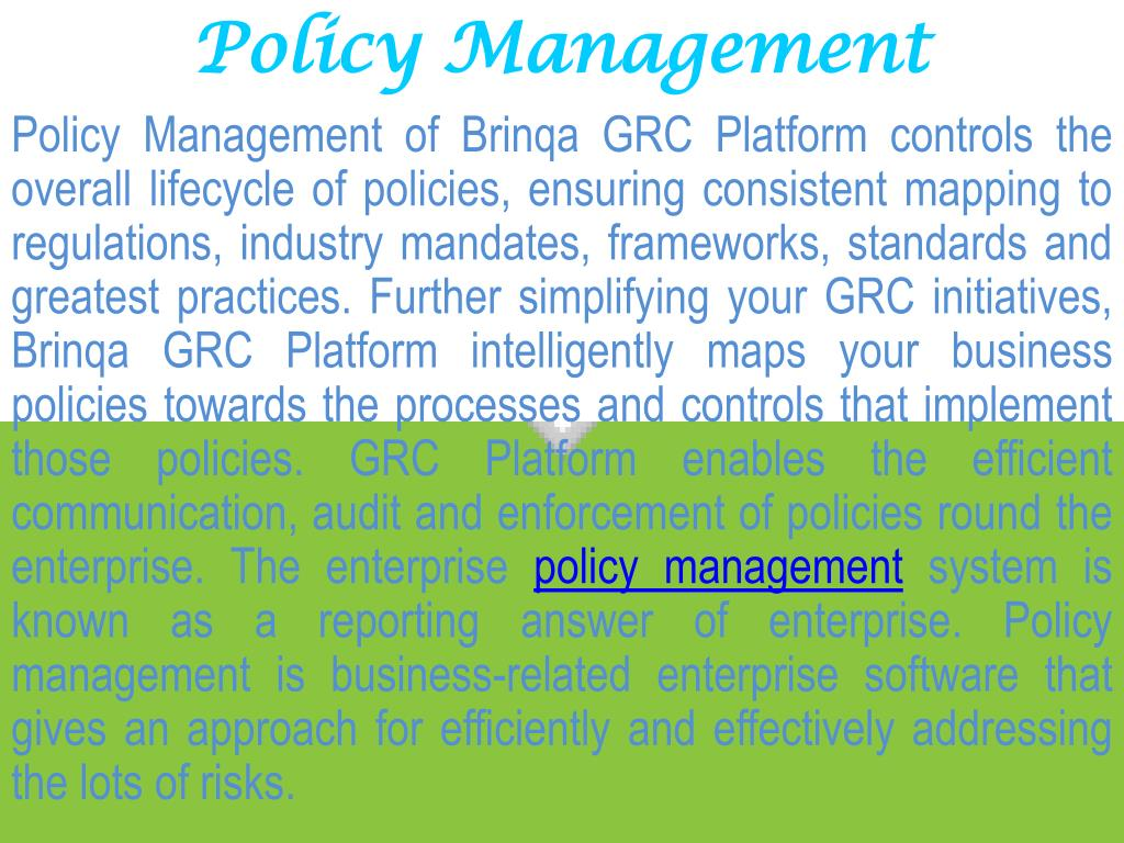 Policy Management
