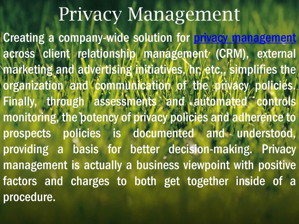 Privacy Management
