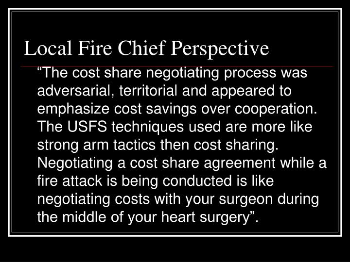 Local Fire Chief Perspective