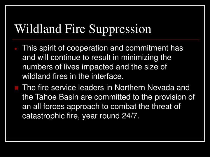 Wildland Fire Suppression